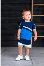 B.Nosy B.Nosy baby jongens t-shirt B.Boring Electric Blue