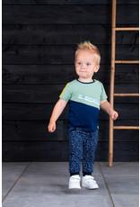 B.Nosy B.Nosy baby jongens t-shirt B.Boring Hunter Green