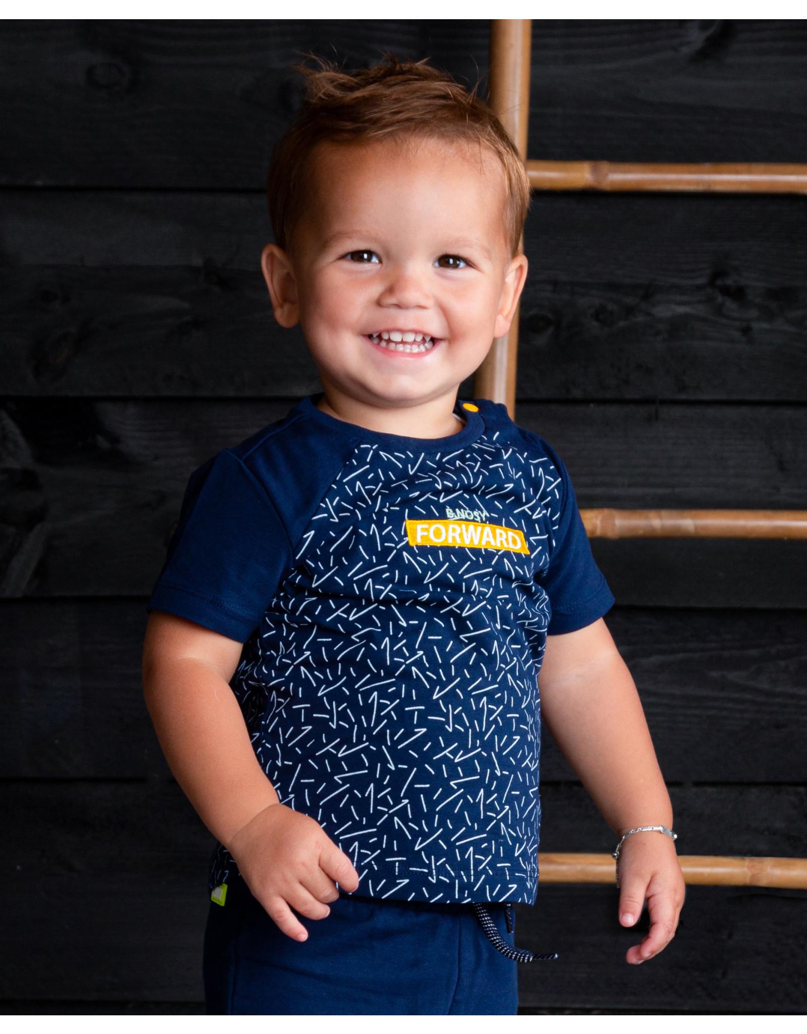 B.Nosy B.Nosy baby jongens t-shirt Forward Kris Kris Space Blue