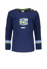 B.Nosy B.Nosy baby jongens shirt Kubus Space Blue