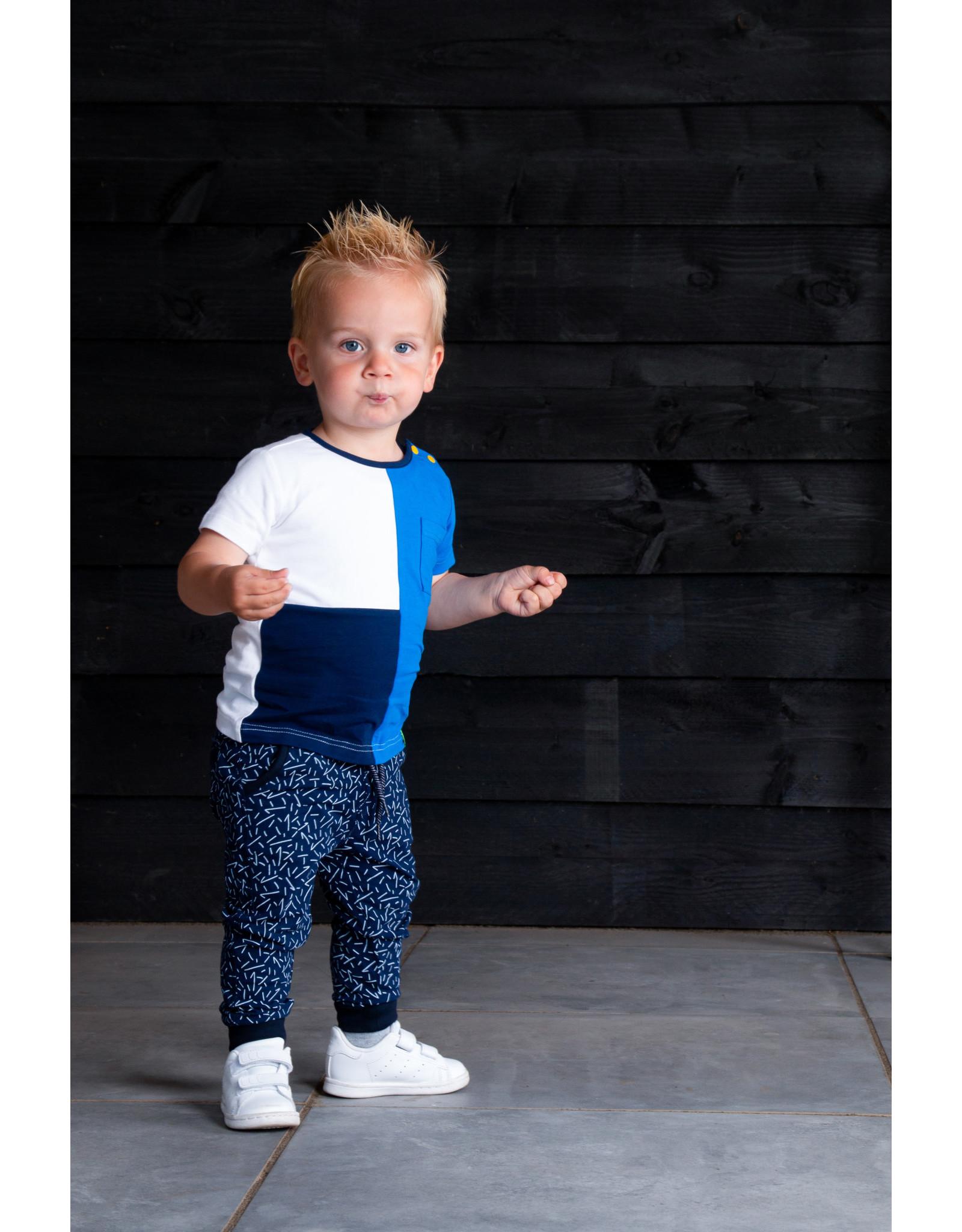 B.Nosy B.Nosy baby jongens joggingbroek Kris Kras Space Blue