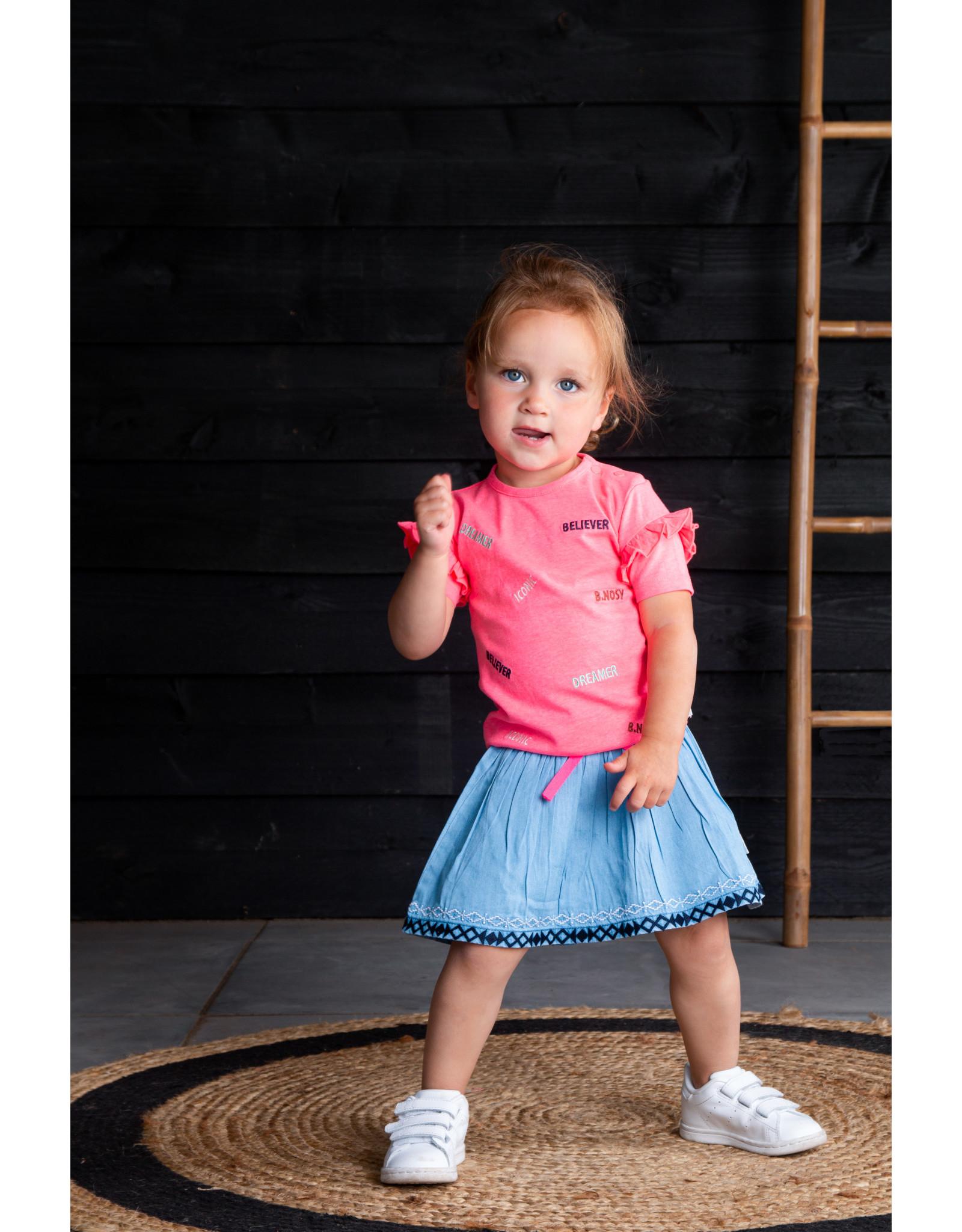 B.Nosy B.Nosy baby meisjes t-shirt Iconic Festival Pink