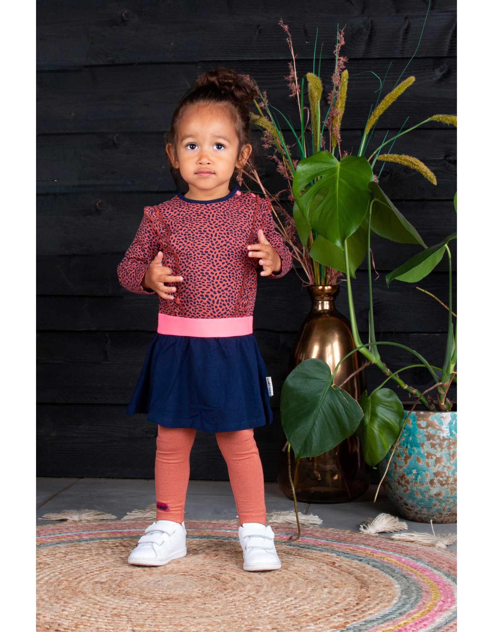 B.Nosy B.Nosy baby meisjes jurk Mix Dots S21