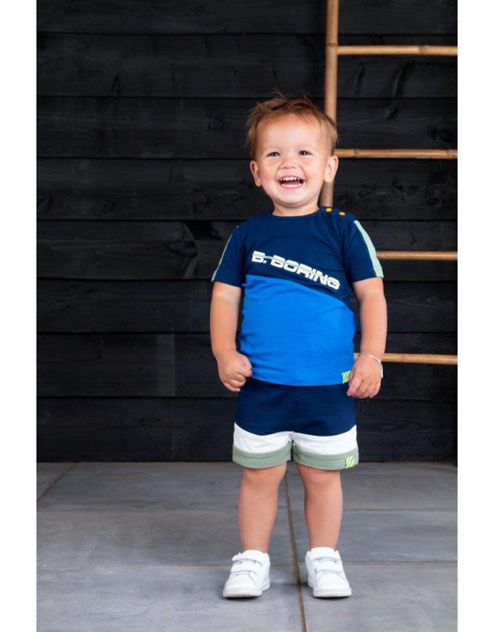 B.Nosy B.Nosy baby jongens korte joggingbroek Space Blue S21