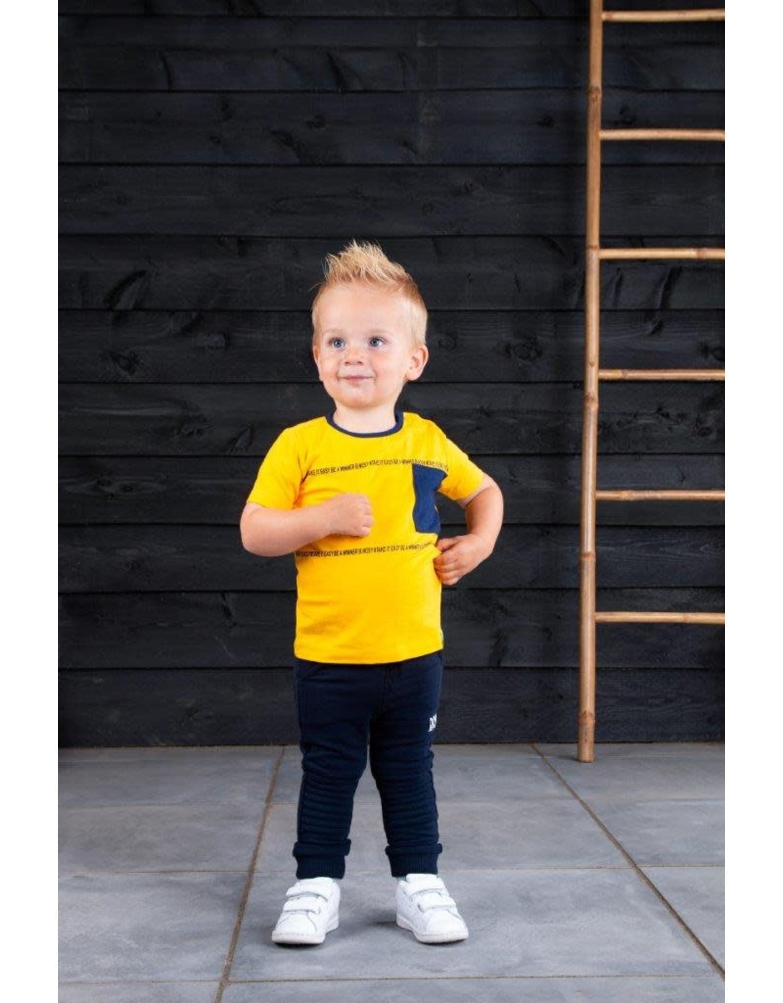 B.Nosy B.Nosy baby jongens t-shirt Be A Winner Lemon Chrome