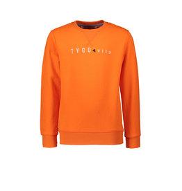TYGO & vito TYGGO & vito jongens sweater borduurprint Socking Orange S21