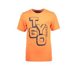 TYGO & vito TYGO & vito jongens basic t-shirt Logo Shocking Orange S21