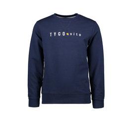 TYGO & vito TYGGO & vito jongens sweater borduurprint Navy S21