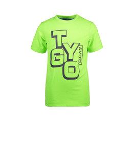 TYGO & vito TYGO & vito jongens basic t-shirt Logo Green Gecko S21