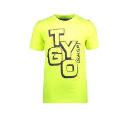 TYGO & vito TYGO & vito jongens basic t-shirt Logo Safety Yellow S21