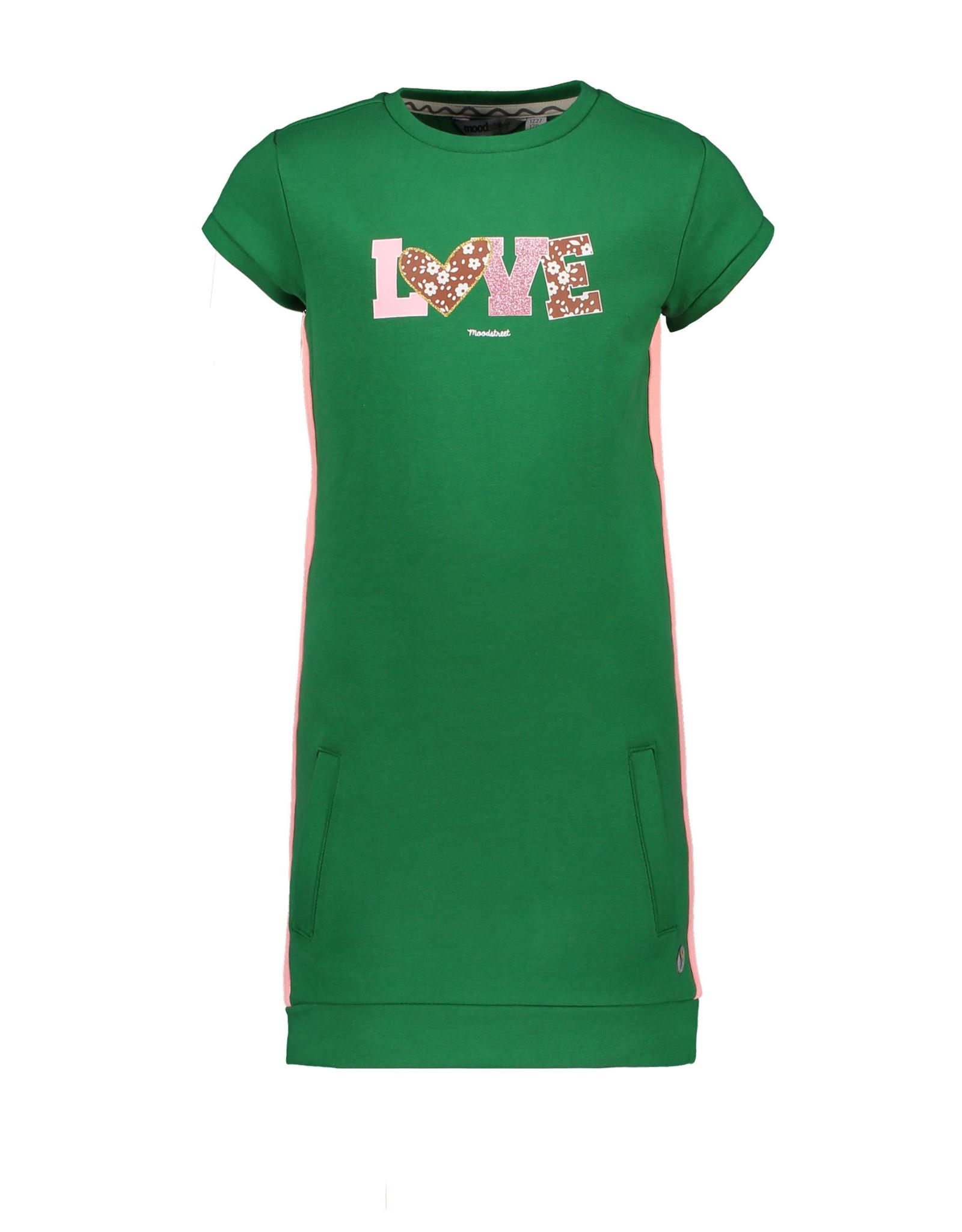 Moodstreet Moodstreet meisjes sweatjurk Green