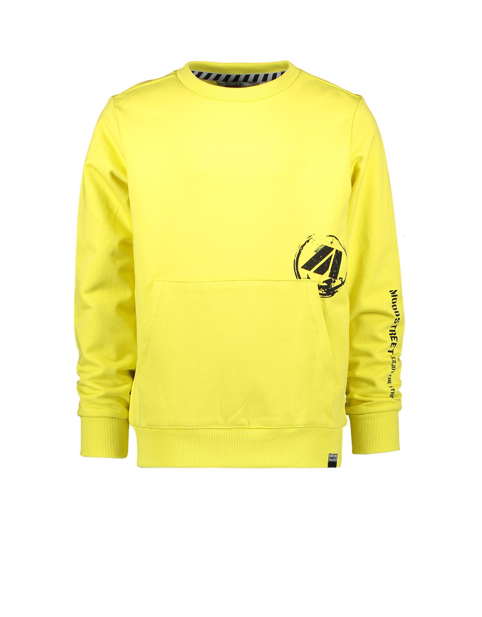 Moodstreet Moodstreet jongens sweater Washed Yellow