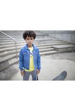 Moodstreet Moodstreet jongens t-shirt Washed Yellow Chestprint