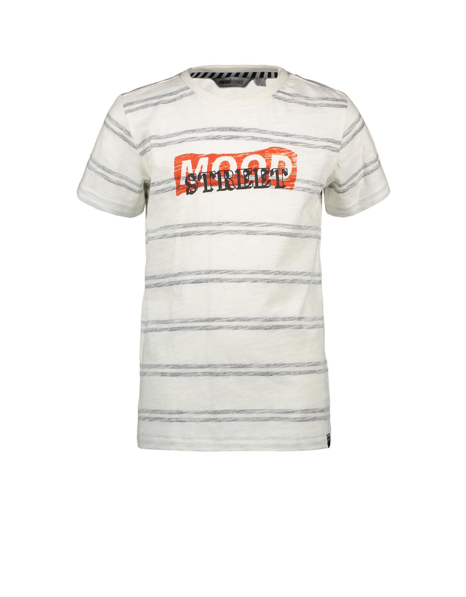 Moodstreet Moodstreet jongens t-shirt Off White Striped
