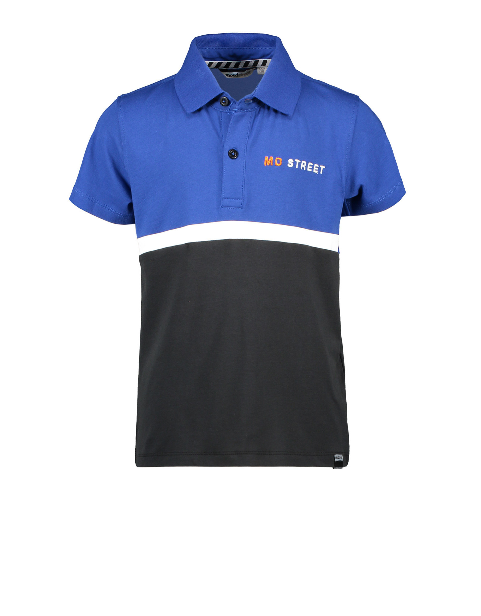 Moodstreet Moodstreet jongens polo t-shirt Sporty Blue Colorblock