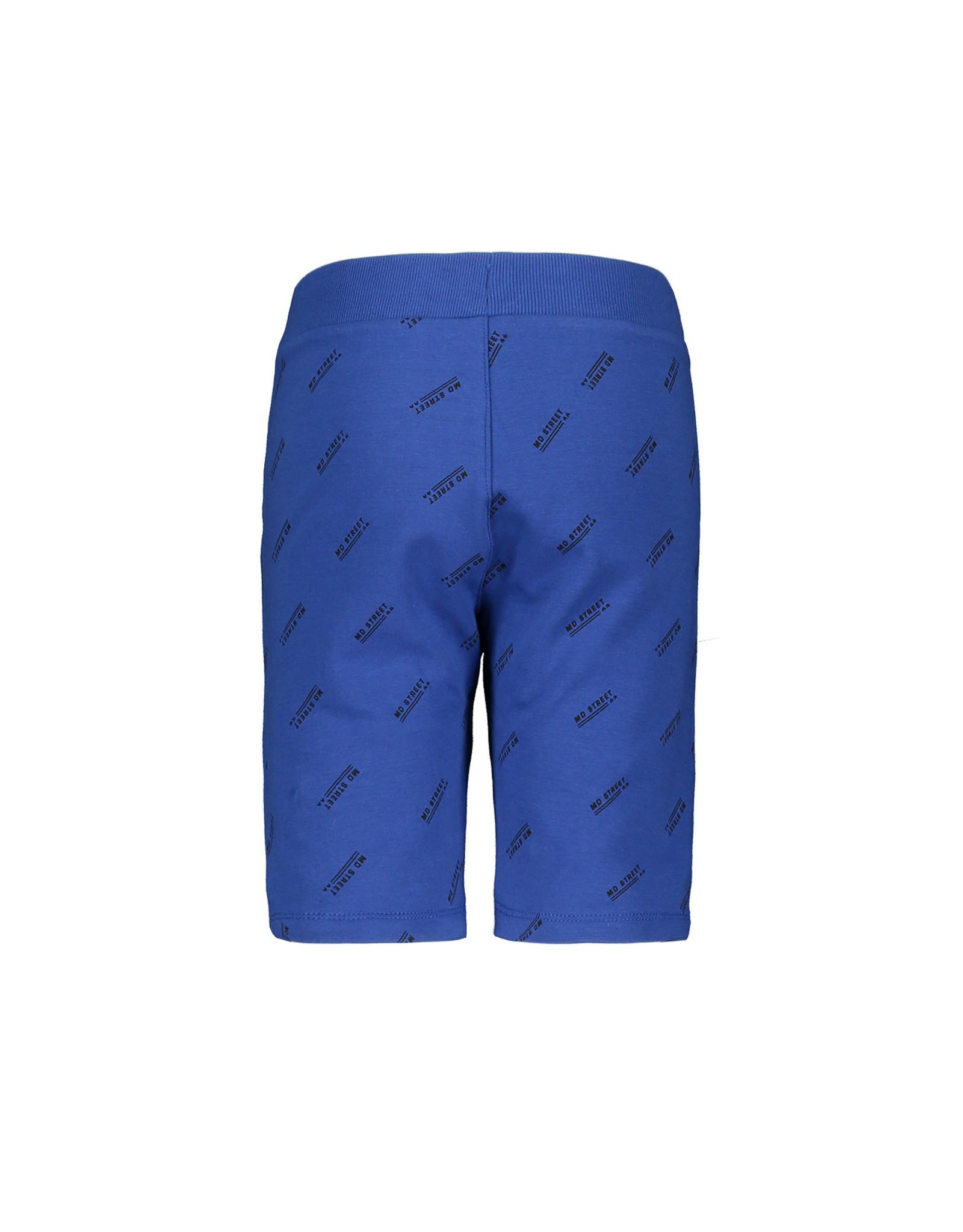 Moodstreet Moodstreet jongens korte joggingbroek Sporty Blue Text Print