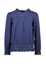 B.Nosy B.Nosy meiden shirt met kant Space Blue S21