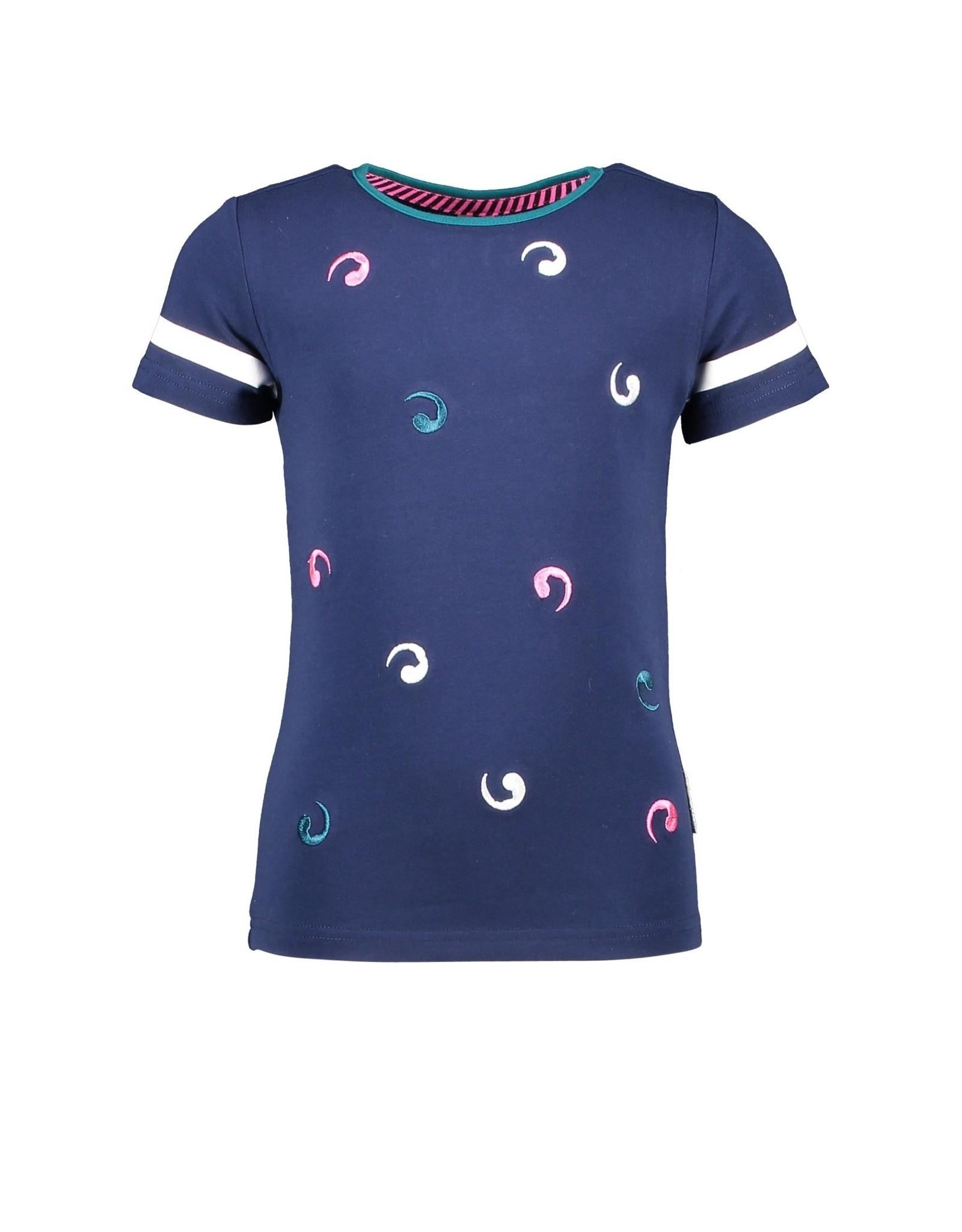 B.Nosy B.Nosy meisjes t-shirt circles Space Blue