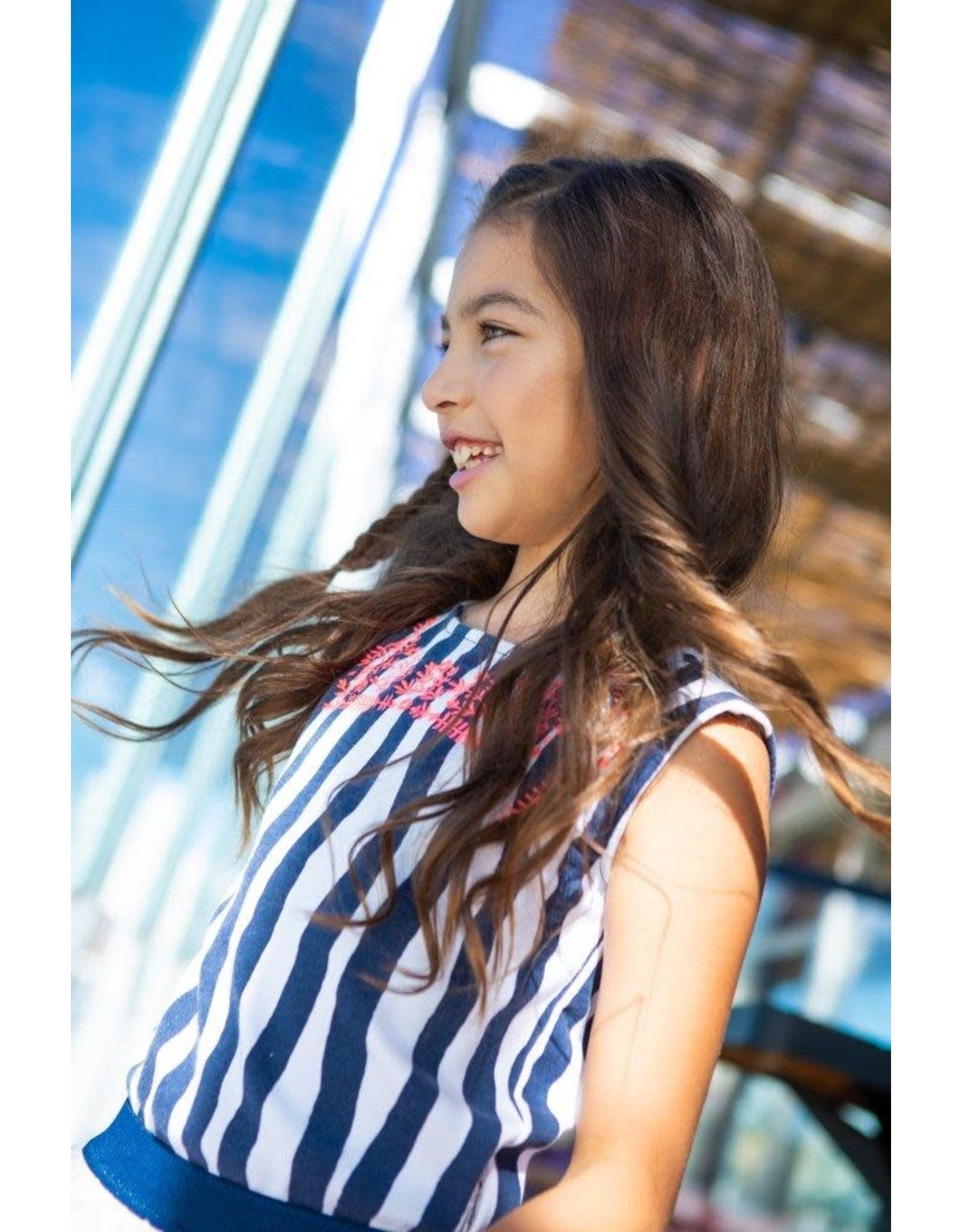 B.Nosy B.Nosy meisjes gestrepte top Tropical Zebra