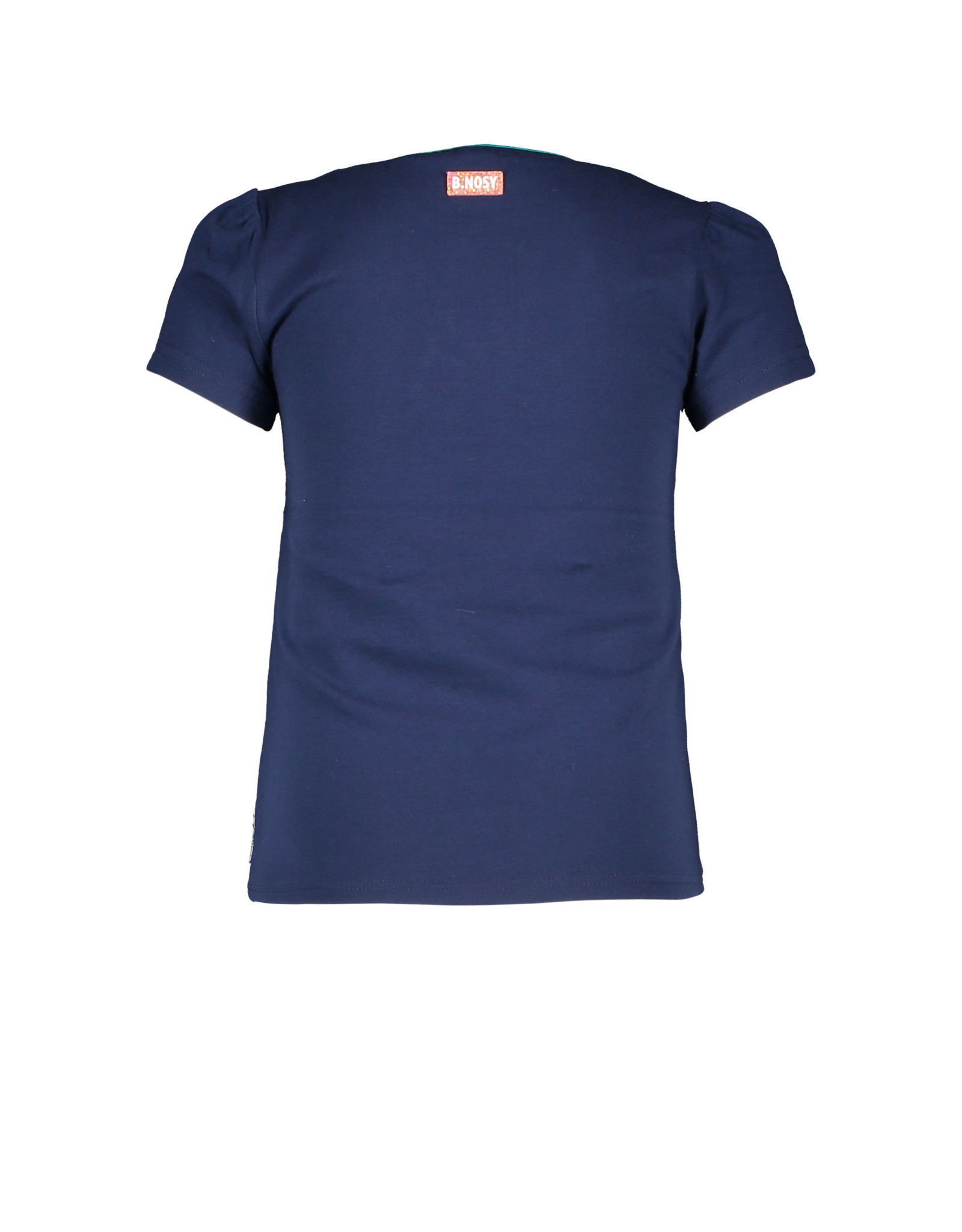 B.Nosy B.Nosy meisjes t-shirt Tropical Vibes Space Blue