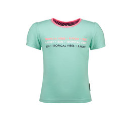 B.Nosy B.Nosy meisjes t-shirt Tropical Vibes Ice Green