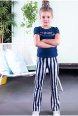 B.Nosy B.Nosy meisjes gestreepte flaired broek Tropical Zebra