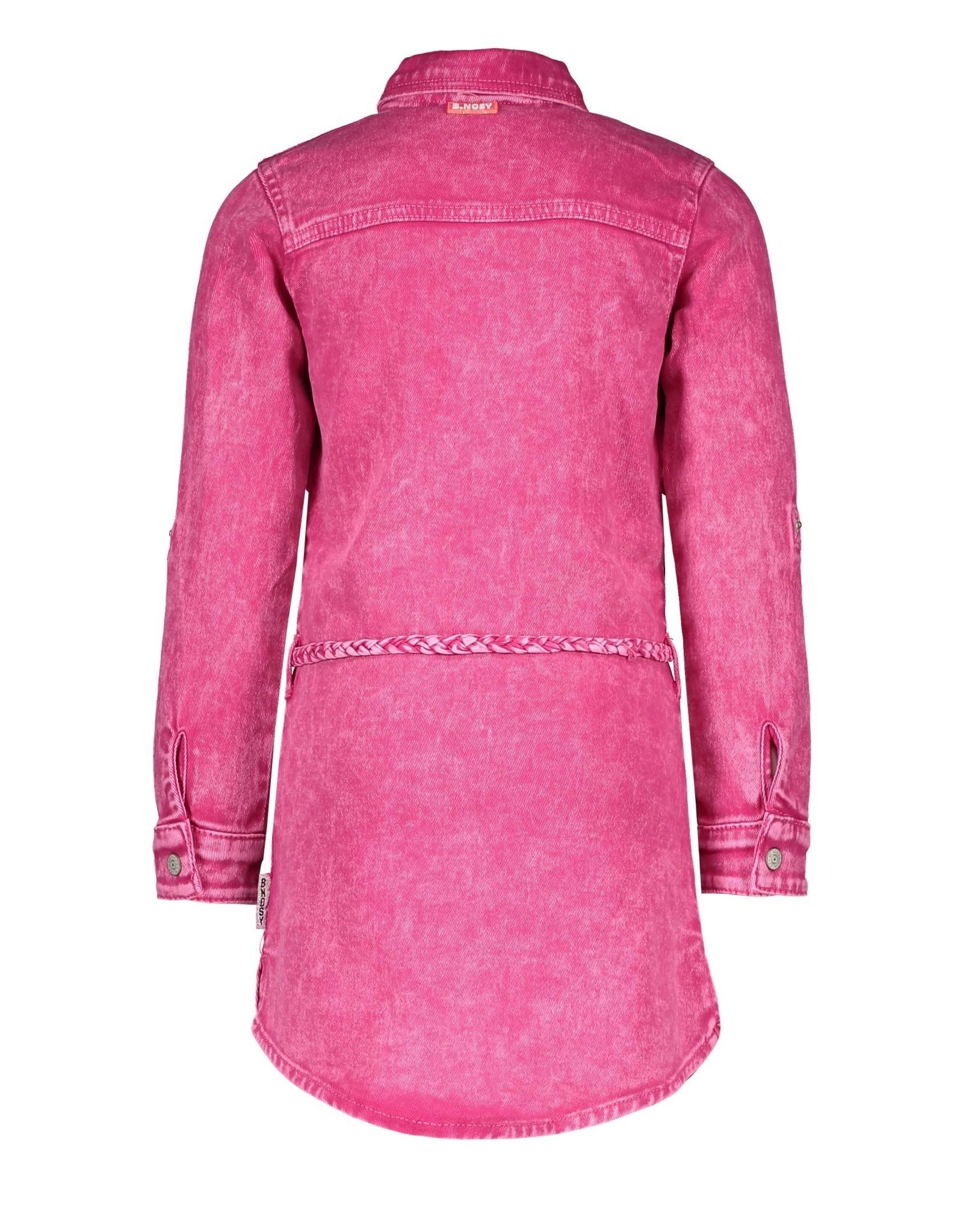 B.Nosy B.Nosy meisjes jeans jurk met centuur Good Pink Denim