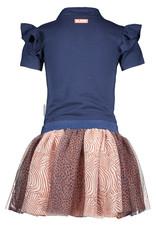 B.Nosy B.Nosy meisjes jurk met tulle Space Blue S21