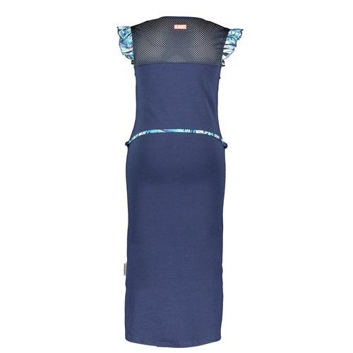 B.Nosy B.Nosy meisjes lange jurk met centuur Space Blue