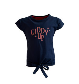 Topitm Topitem meisjes t-shirt Kiddy Up Dark Blue
