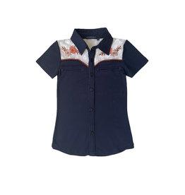 Topitm Topitem meisjes blouse Derby Dark Blue