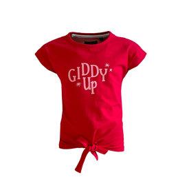 Topitm Topitem meisjes t-shirt Kiddy Up Red