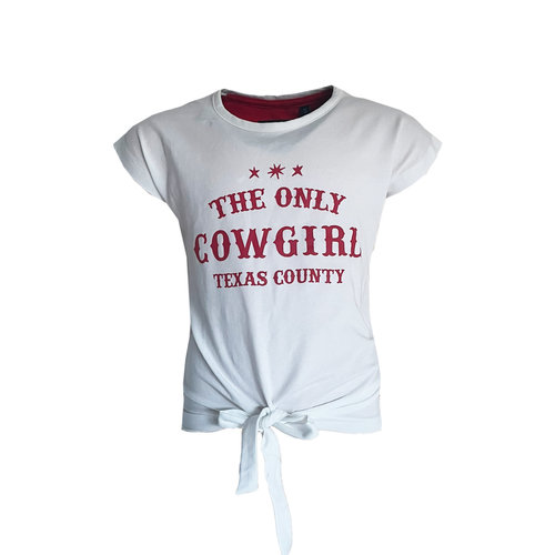 Topitm Topitem meisjes t-shirt Kiddy Up off White