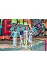 4President 4President meisjes jurk Mabs Multicolor Stripes