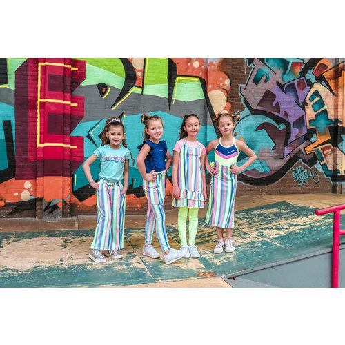 4President 4President meisjes mouwloze jurk Madelaine Multicolor Stripes