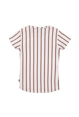 DJ Dutchjeans DJ Dutchjeans meisjes gestreept t-shirt met V-block White