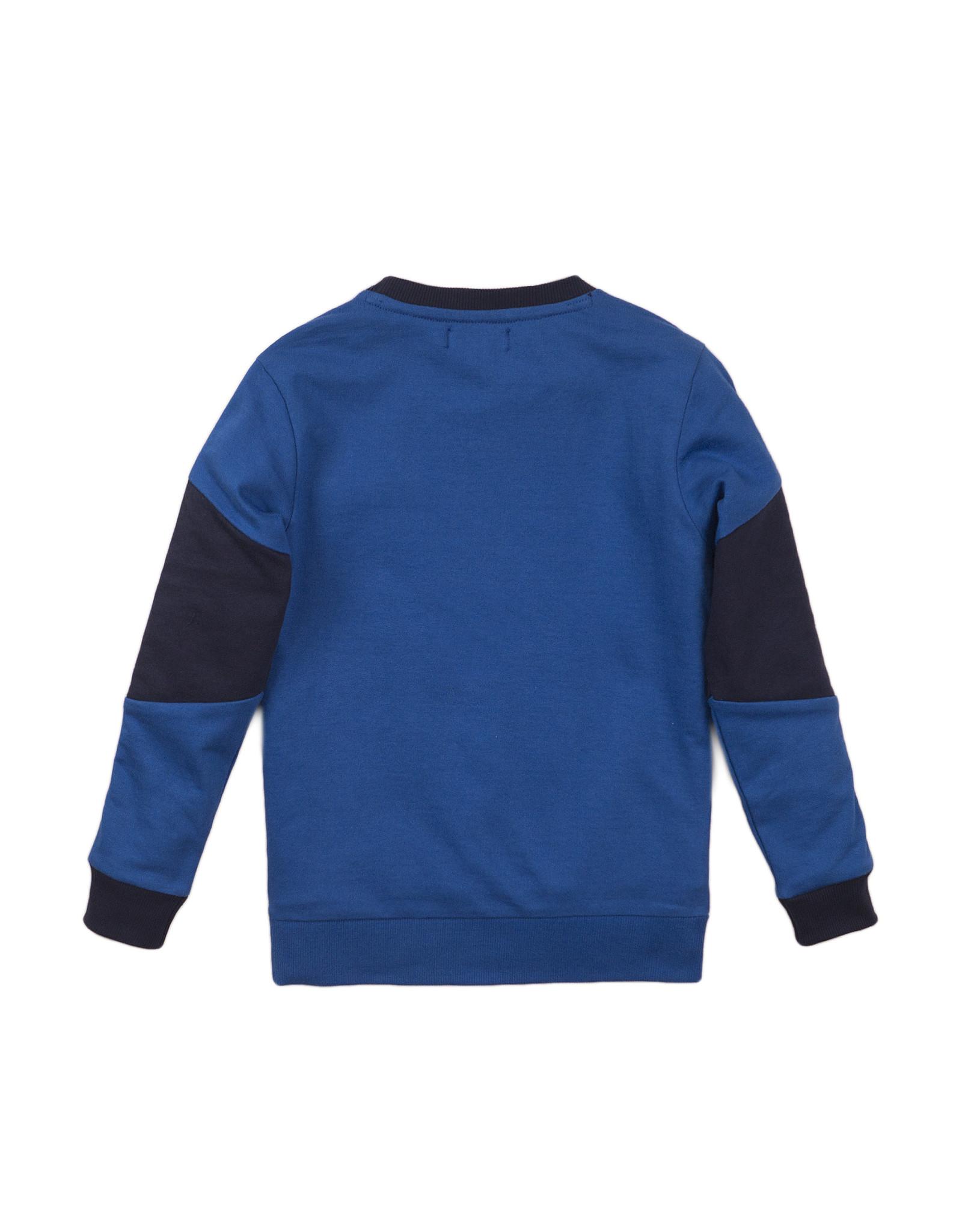 DJ Dutchjeans DJ Dutchjeans jongens sweater met bies op de arm Blue