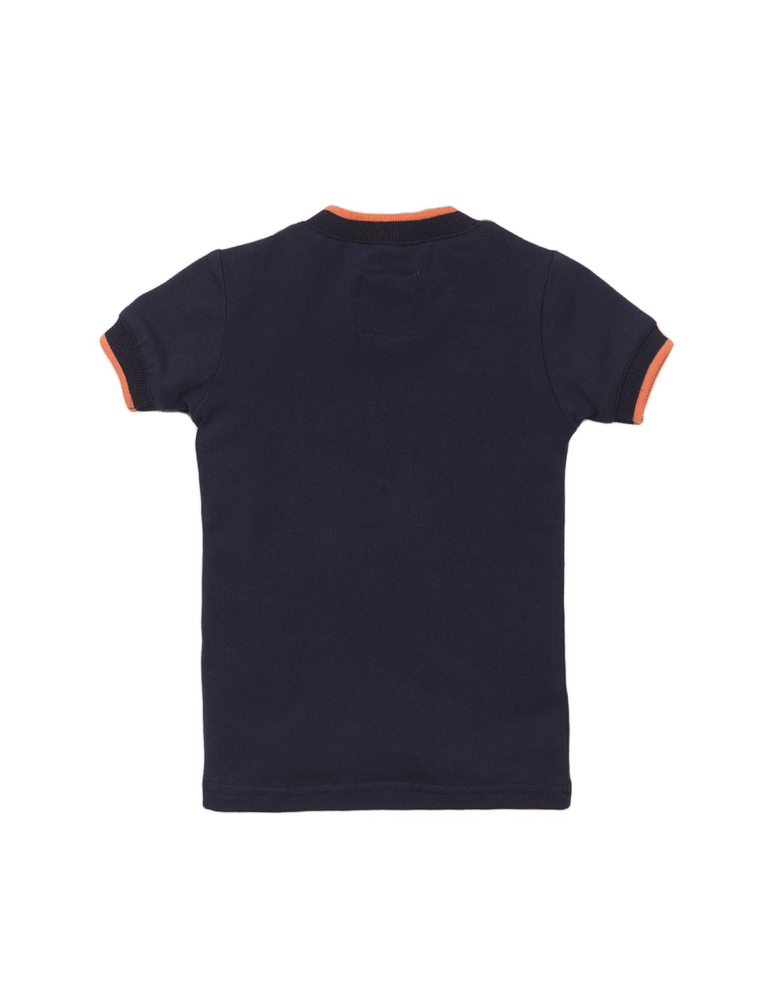 Koko Noko Koko Noko meisjes t-shirt logo panterprint Navy