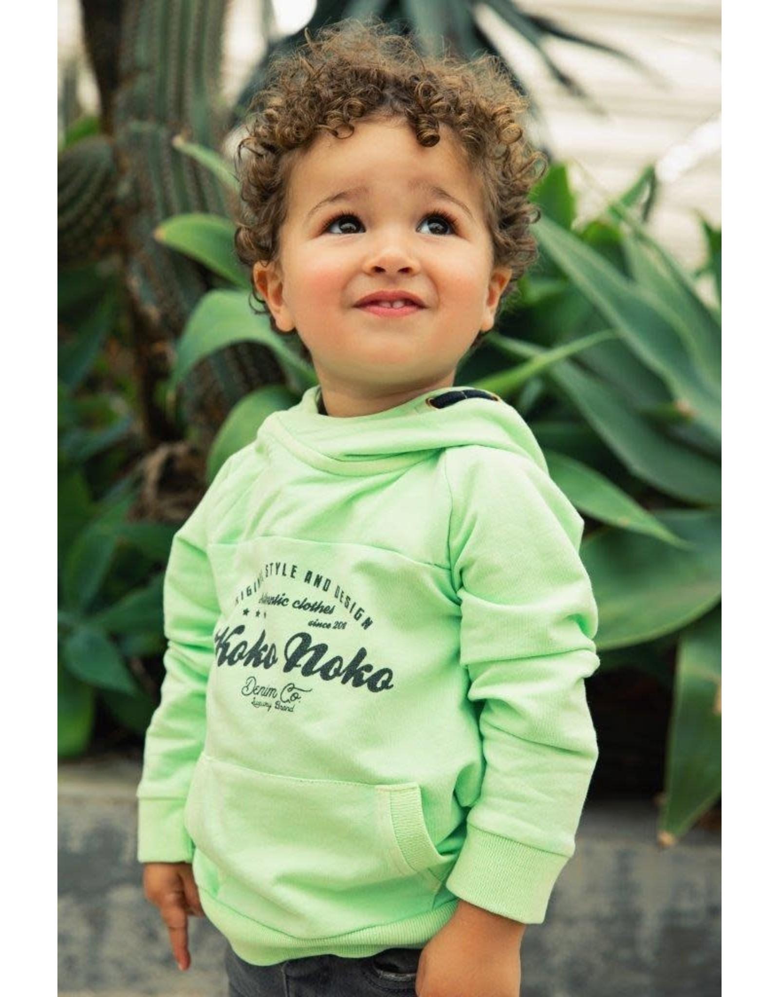 Koko Noko Koko Noko jongens hoodie Faded Neon Green