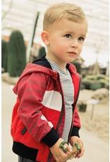 Koko Noko Koko Noko jongens zomerjas Stripe Block Red White
