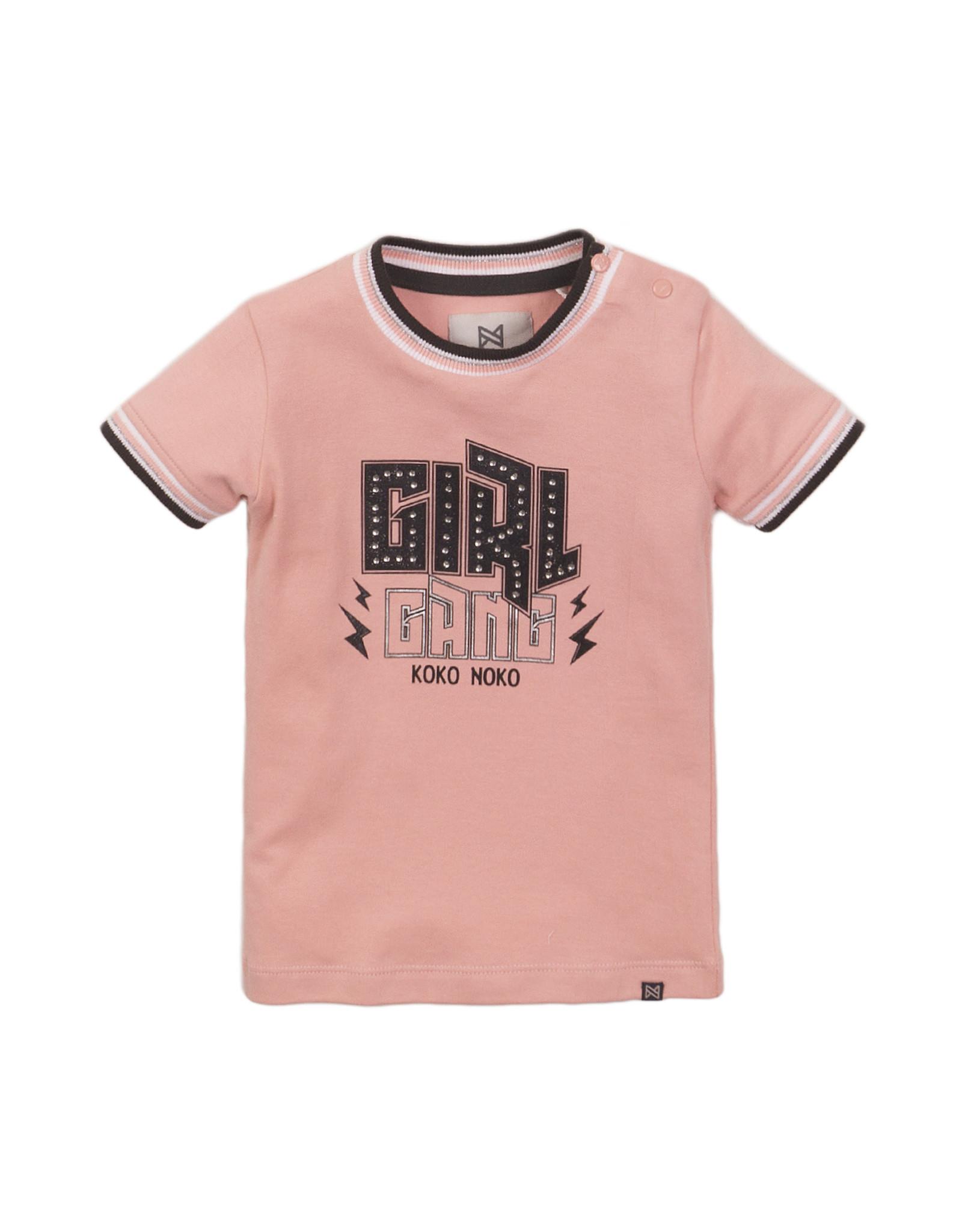 Koko Noko Koko Noko meisjes t-shirt Girl Pink
