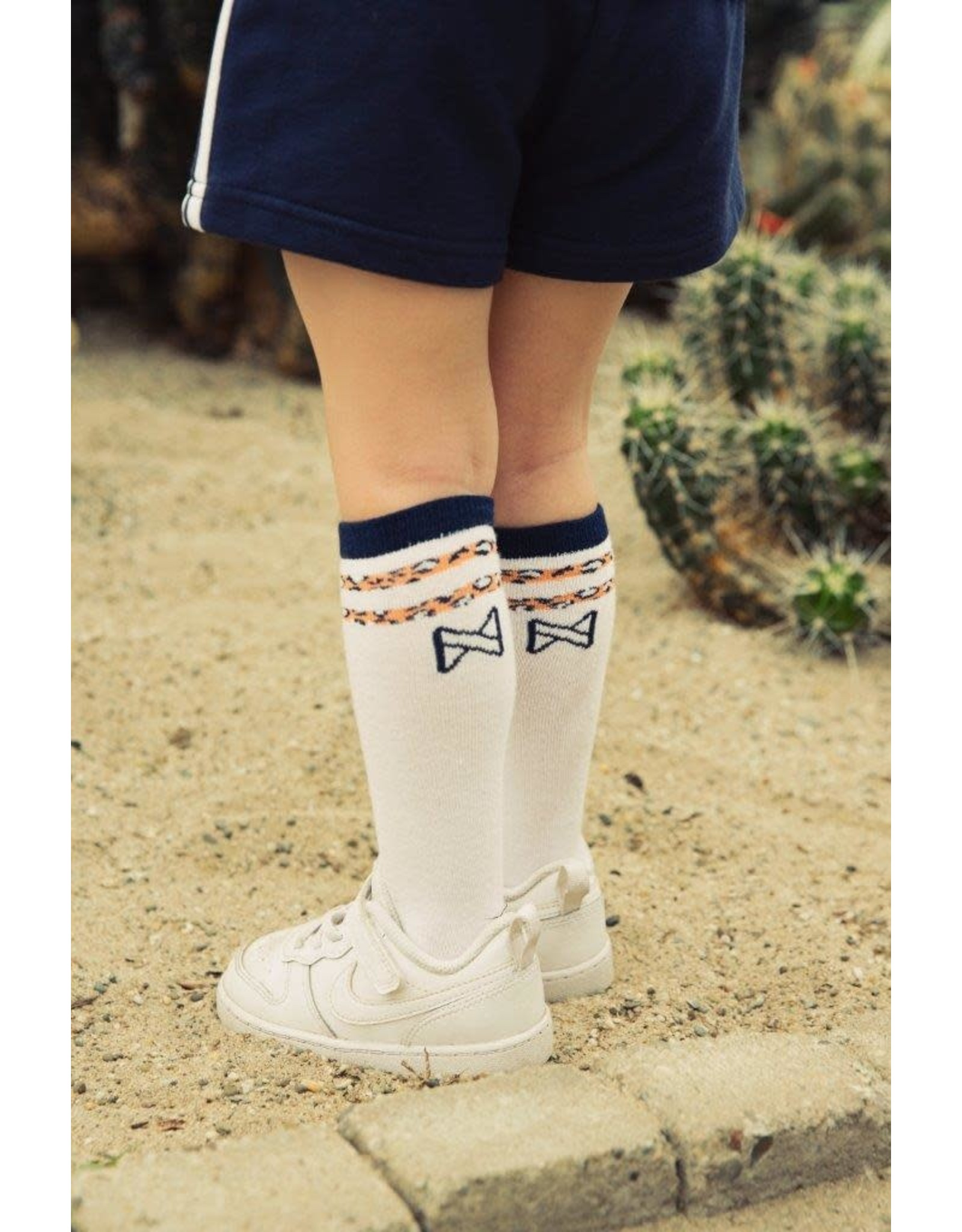 Koko Noko Koko Noko meisjes sokken Navy White