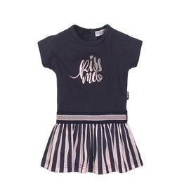 Dirkje Dirkje baby meisjes jurk Kiss Me Navy Light Pink