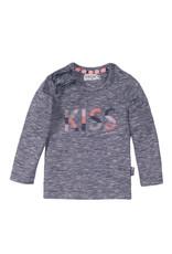 Dirkje Dirkje baby meisjes shirt Kiss Navy Melee