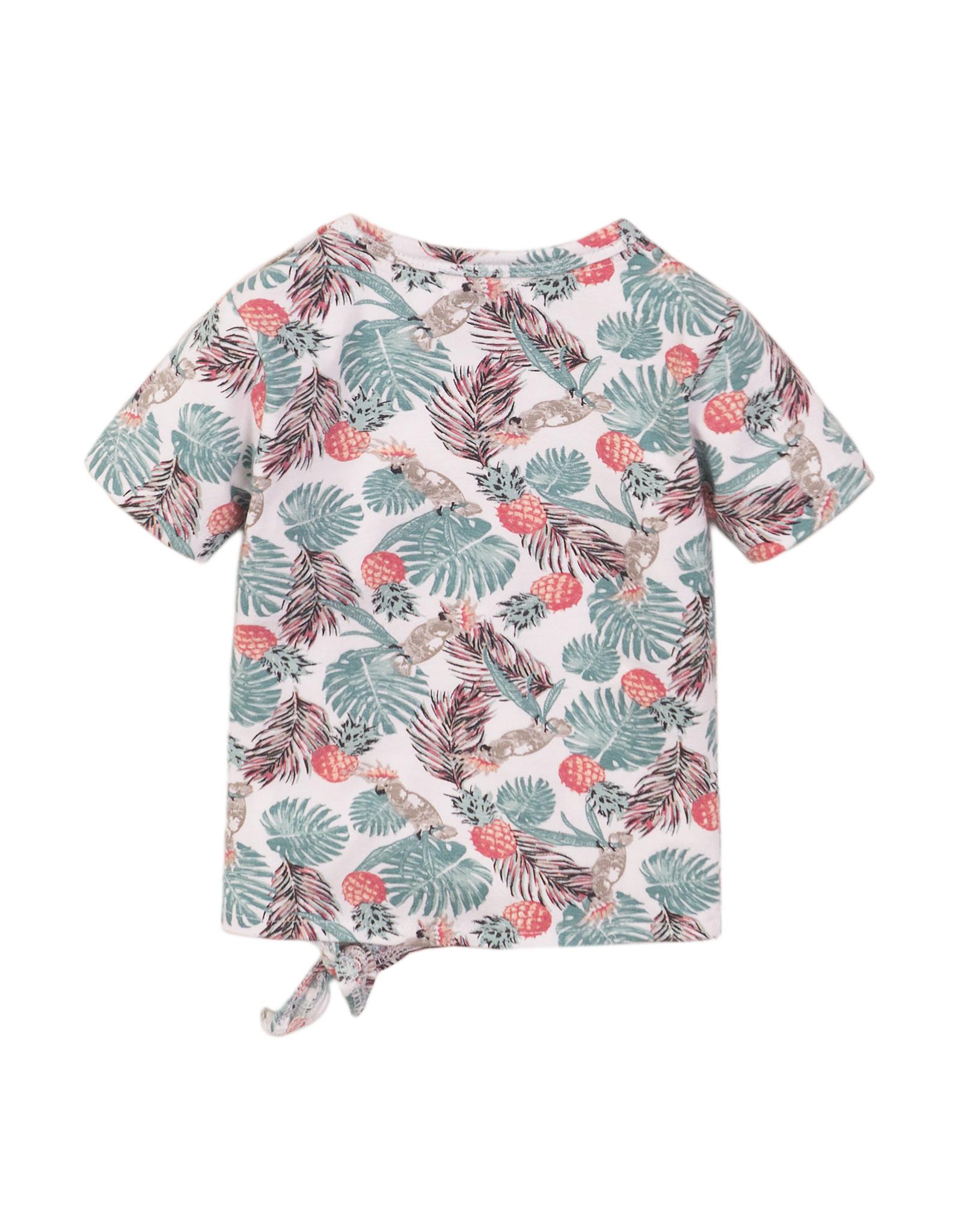 Dirkje Dirkje baby meisjes t-shirt Wild At Heart Multi Color