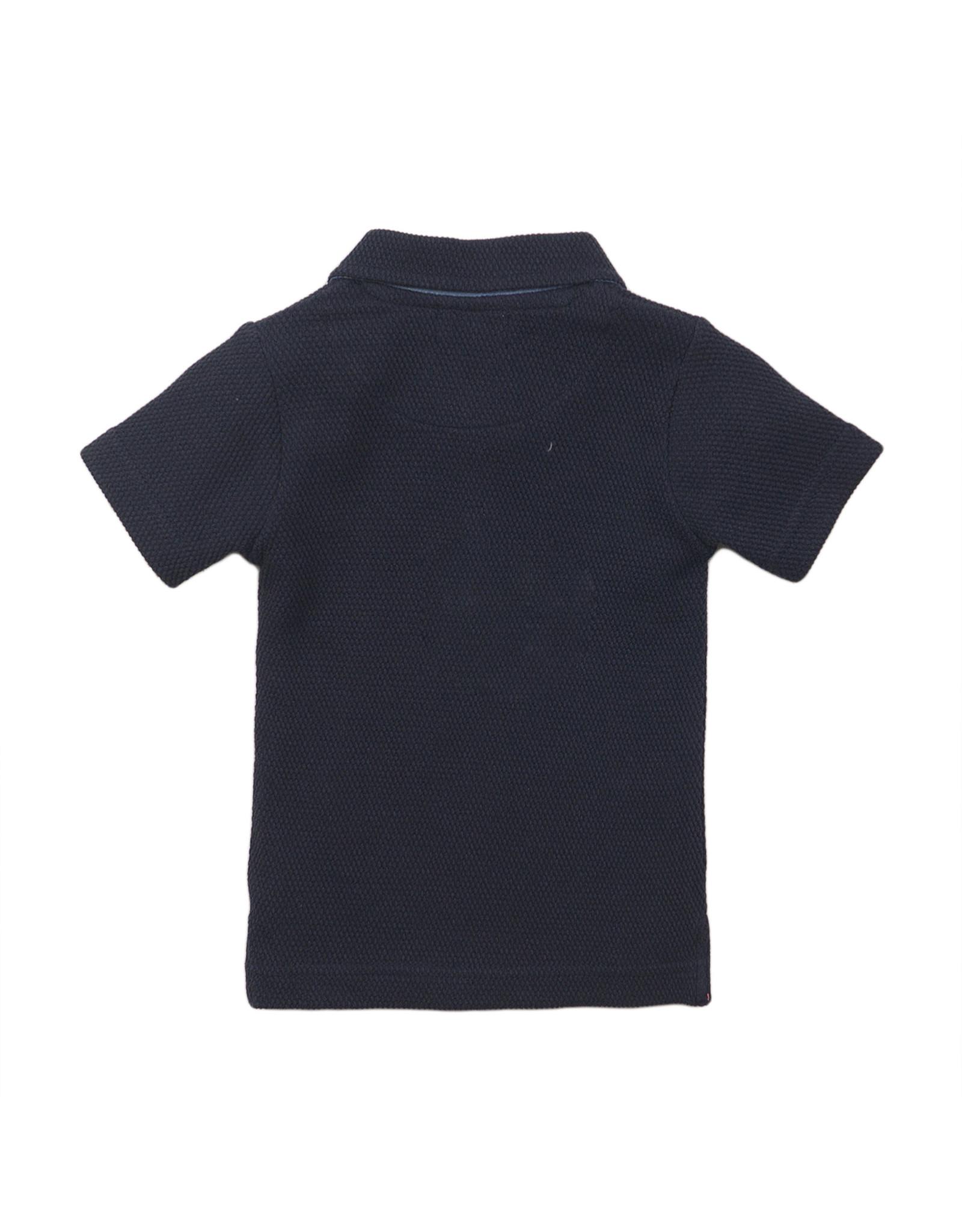 Dirkje Dirkje baby jongens polo t-shirt met 2 borstzakjes Navy