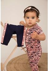 Dirkje Dirkje baby meisjes jumpsuit aop print Peach Navy