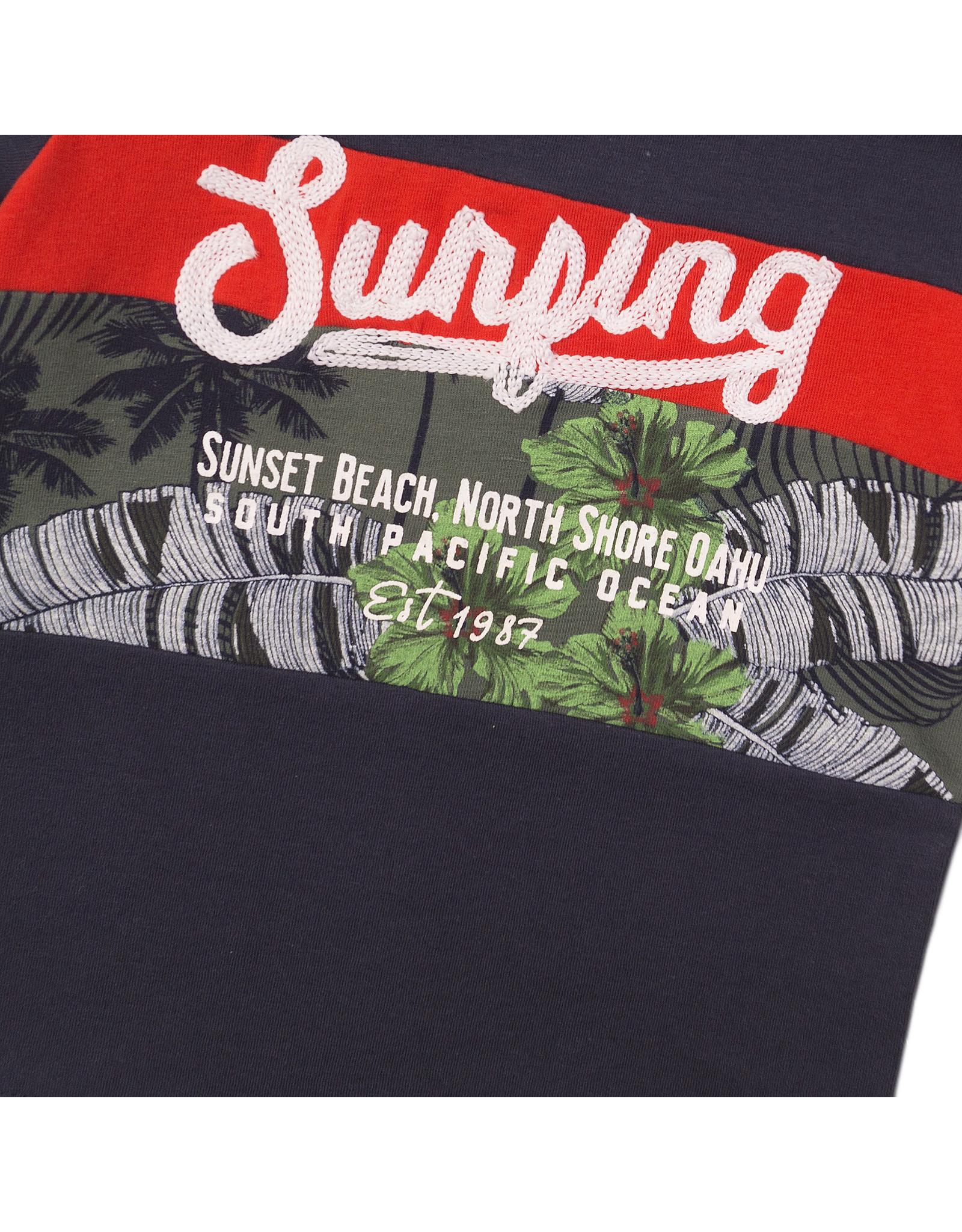 Dirkje Dirkje baby jongens t-shirt Surfing Navy