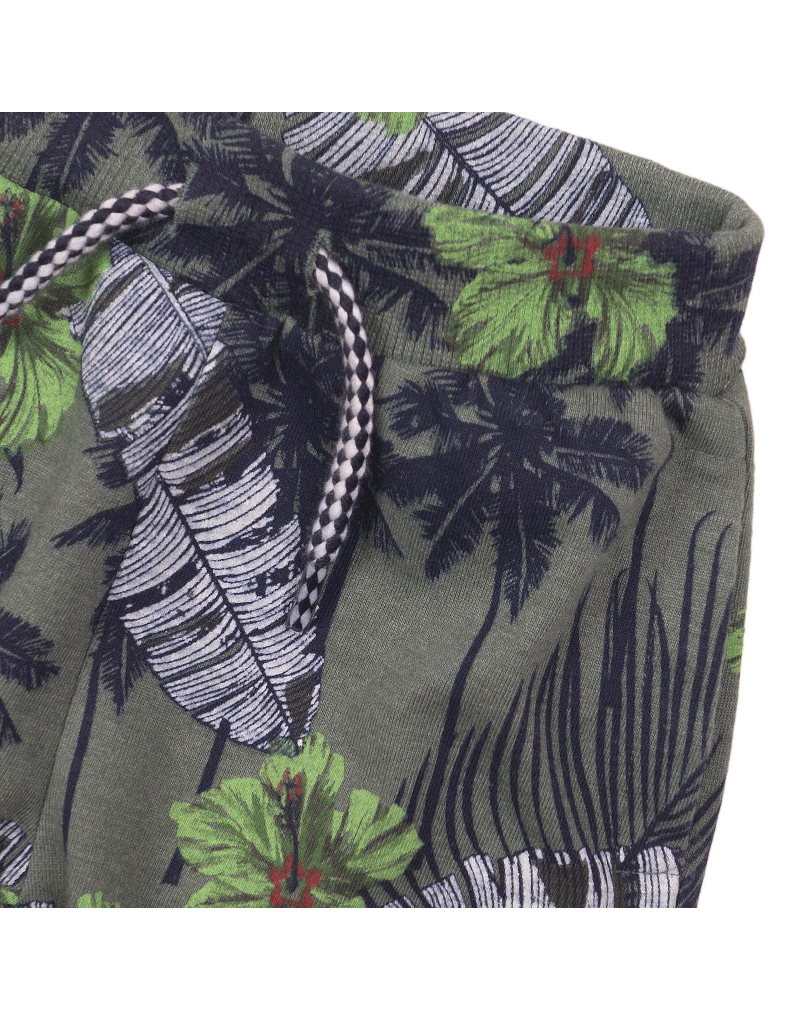 Dirkje Dirkje baby jongens korte joggingbroek Tropical Multi