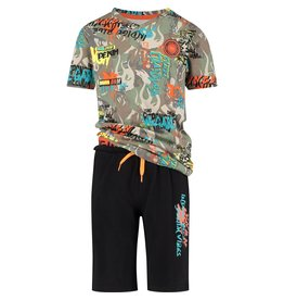 Vingino Vingino jongens korte pyjama Weareart Multicolor Army Green